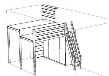 Hochetagen, Standard Modelle, individuelle Lösung, Raum, Wohnbereich, Arbeitsbereich,